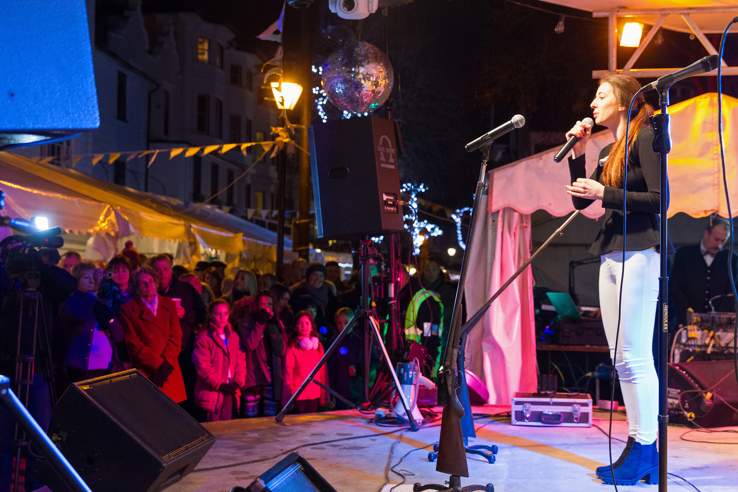 Hug-Many celebrating New Year's Eve on the Pantiles in Tunbridge Wells